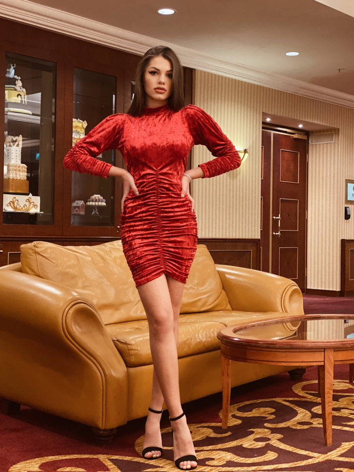 Enchanting in RED ready to wear dress
